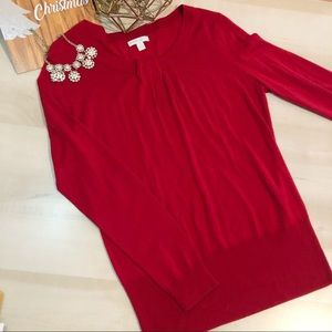 New York & Co. red sweater size Large